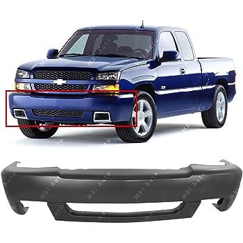 Front Bumper Cover Compatible with 2003-2006 Chevrolet Silverado 1500//Silverado 2500 2003-2004 Bumper Cap Primed Base//LS//LT Models Inc 2007 Classic