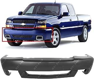 Chrome GM1002819 Steel Front Bumper Facebar for 2003-2007 Chevy Silverado 1500 2500 w//Brackets 03-07 MBI AUTO