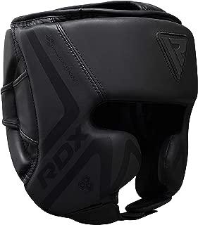 RDX Headguard for Boxing Training - Matte Black Padded Head Guard for Face, Cheeks & Ear Protection-Headgear for Grappling, MMA, Muay Thai, Kickboxing, Karate, BJJ, Taekwondo, Fighting, Martial Arts