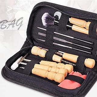 LOadSEcr's Musical Instruments Tool, Portable Ukulele Banjo Violin Repair Maintenance Cleaning Set Electric Guitar Bass Ukelele Accessories - Black