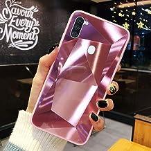 URFEDA Compatibel met Samsung Galaxy A11 telefoonhoesje Diamond Glitter Case met spiegeleffect Sparkly Bling TPU Siliconen...