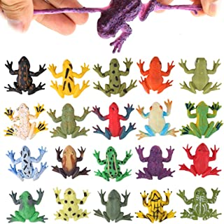 Frog Toys12 Pack Mini Rubber Frog setsFood Grade Material TPR Super StretchesWith Gift Bag And Learning Study CardValeforT...