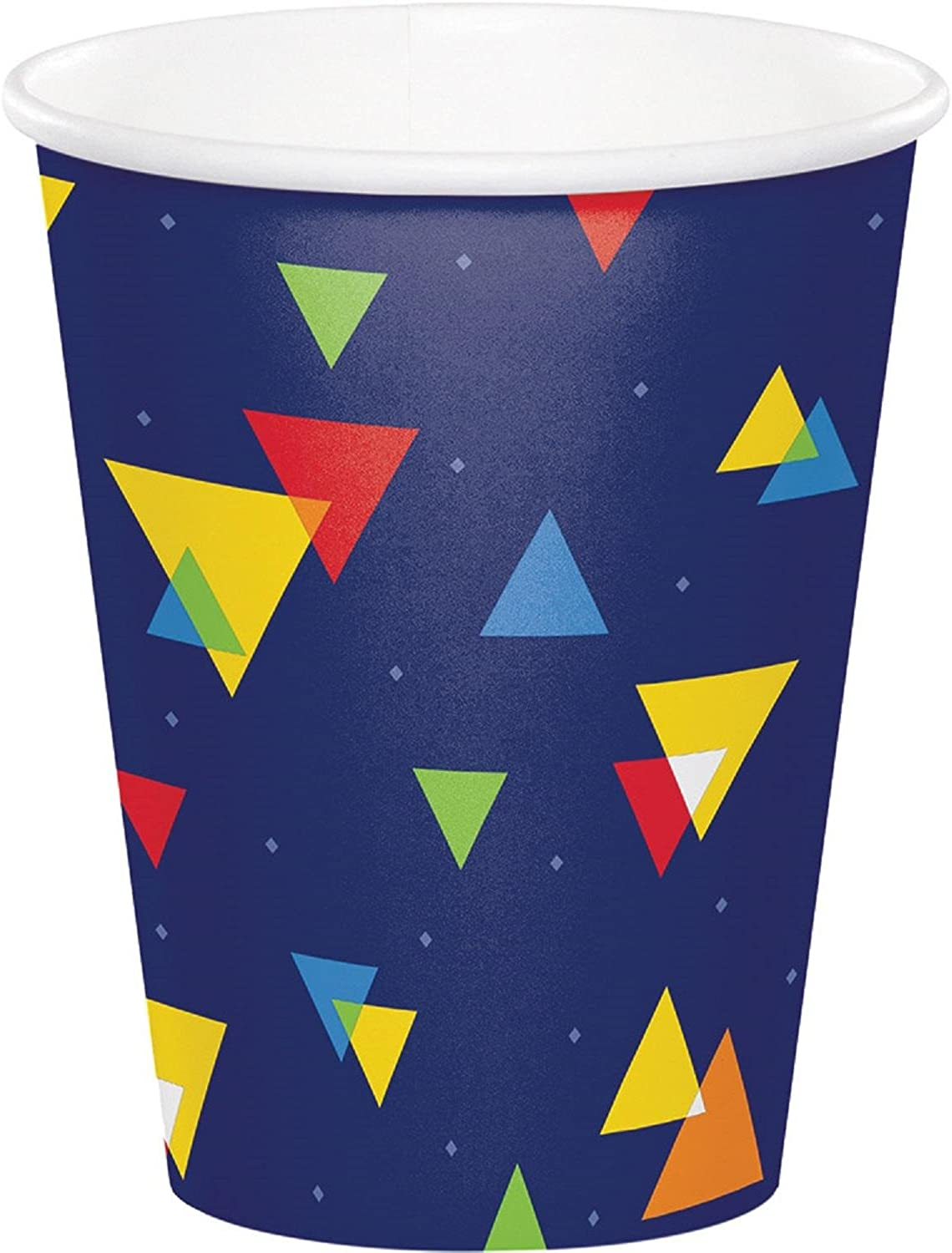 Club Pack of 96 Multi colord Disposable Plastic Drinking Party Hot Cold Cups 9 oz.