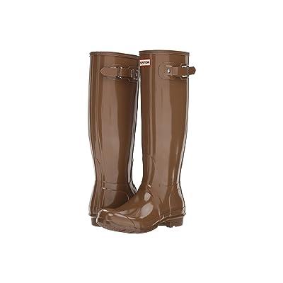 Hunter Original Tall Gloss Rain Boots (Mushroom) Women