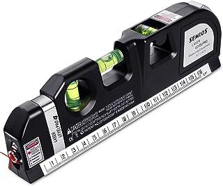 Semlos Multipurpose Laser Level for Picture Hanging, Spirit Levels Line Lasers, 8 feet Measuring Tape, Adjusted Standard a...