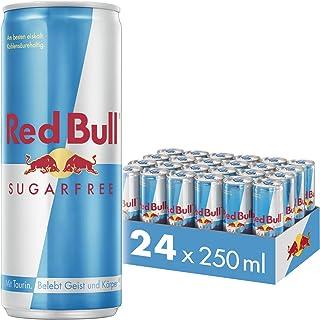 Red Bull Energy Drink Sugarfree 24 x 250 ml OHNE Pfand Dosen Getränke, Zuckerfrei 24er Palette