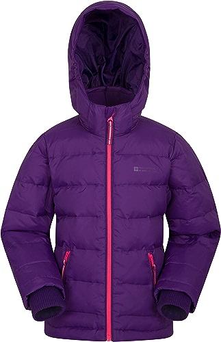 Mountain Warehouse Doudoune Frost Youth Enfant - Résistante à l'eau, Doubleure Polaire, Capuche Ajustable, Deux Poches Avant zippées - Idéale pour l'hiver