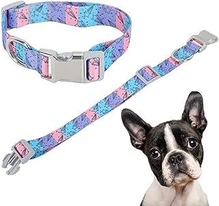 プリントウェビングドッグネックストラップ、柔らかく快適、犬の散歩時のペットの動きを制限、(meteor, M)
