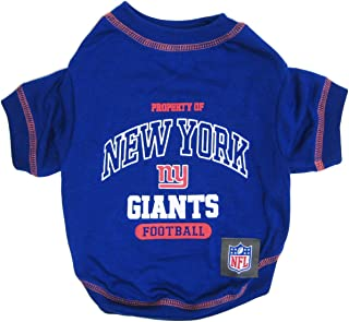 NEW YORK GIANTS Dog T-Shirt, Small. - Cutest Pet Tee Shirt for the real sporty pup