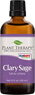 Plant Therapy Clary Sage Essential Oil 100% Pure, Undiluted, Natural Aromatherapy, Therapeutic Grade 100 mL (3.3 oz)