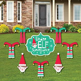 Big Dot of Happiness Elf Squad - Yard Sign and Outdoor Lawn Decorations - Kids Elf Christmas and Birthday Party Yard Signs - Set of 8