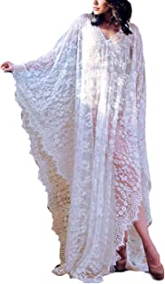 Crochet Knitted Beach Cover Up Open Front Kimono Cardigan Sexy Lace Dress