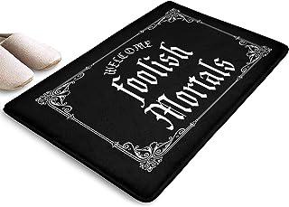 Yiastia_Minyi Indoor Outdoor Doormat Welcome Foolish Mortals Absorbent Moisture PVC Backing Entrance Rug Non Slip Door Mat...