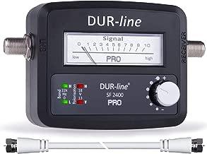 DUR-line® SF 2400 Pro - Satfinder - Messgerät zum exakten Ausrichten Ihrer digitalen Satelliten-Schüssel inkl. F-Kabel und deutscher Anleitung
