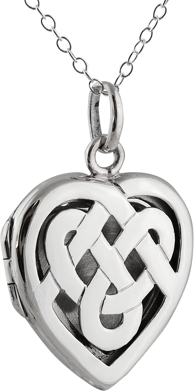 New products world's highest quality popular FashionJunkie4Life Raleigh Mall Sterling Silver Celtic Knot Photo Heart Locke