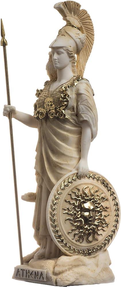 Beautifulgreekstatues, statua della dea atena, in alabastro, 17 cm