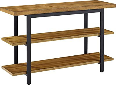 Crosley Furniture Roots Open Console Table Entertainment Center, Natural