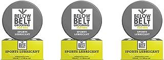 Below The Belt Grooming Sports Lubricant - Anti Chafing Chamois Cream 3 x 100ml