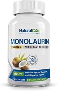 Natural Cure Labs Premium Monolaurin – 600mg, 100 Capsules