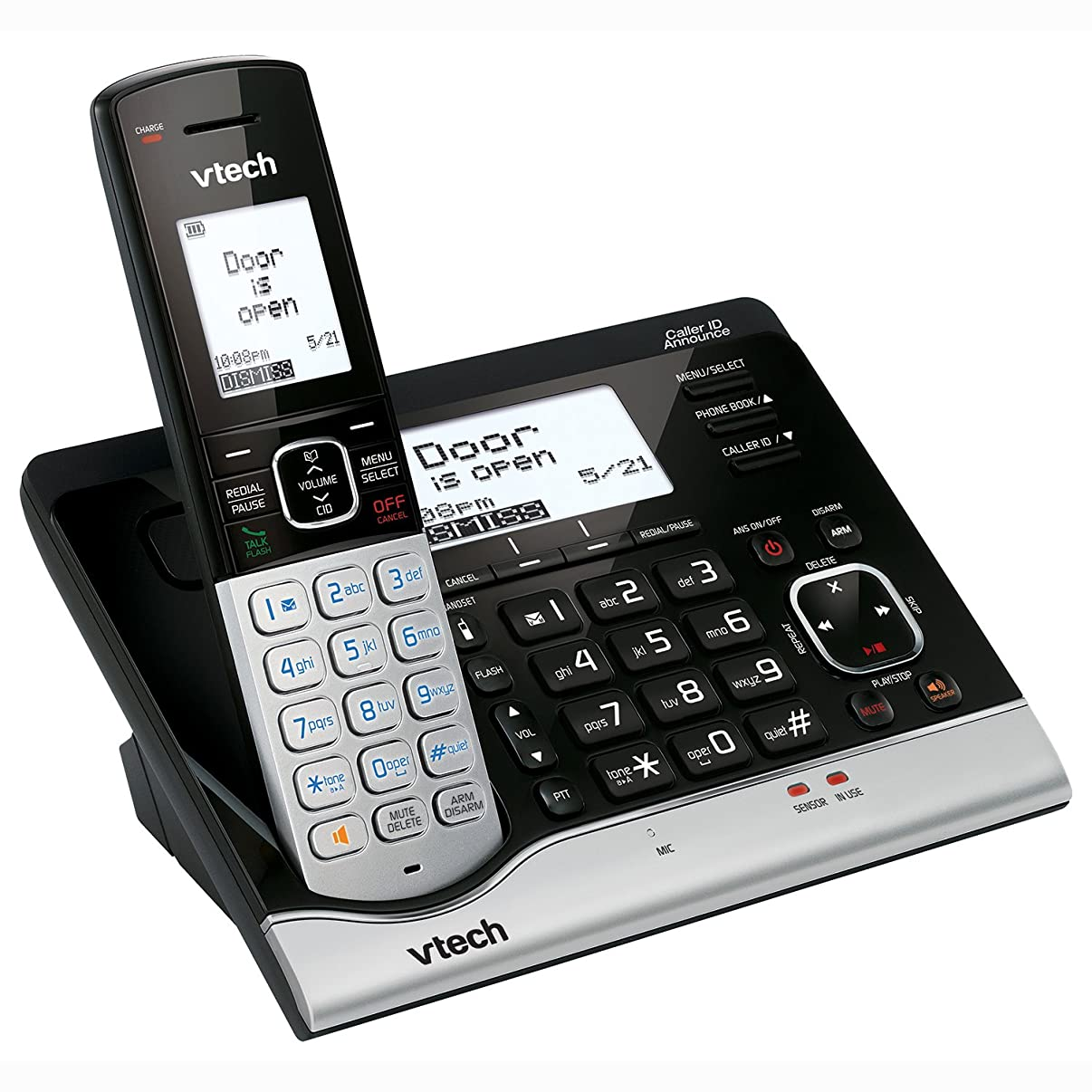 Tech VC7151 Wireless Home Monitoring System with Cordless Telephone and VTech Sensor Compatibility