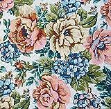 Gobelin Stoff Rose élégante METERWARE Breite 150 cm Rose