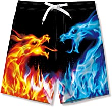 AIDEAONE Boys Shorts with Mesh Lining Swimming Shorts Quick Drying Trunks Beach Wear
