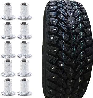 cici store 100 peças para pneu de neve automotivo para bicicleta – Pinos planos para pneu de roda – Universal para inverno