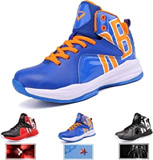 WETIKE Kid's Basketball Shoes High-Top Sneakers Outdoor Trainers Durable Sport Shoes(Little Kid/Big Kid)