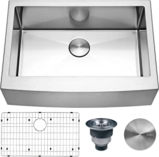 Ruvati 30-inch Farmhouse Apron-Front Kitchen Sink Stainless Steel Single Bowl - RVH9130
