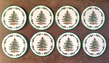 Spode/C.R. Gibson Christmas Tree Round Cardboard Coasters - Pack of 8