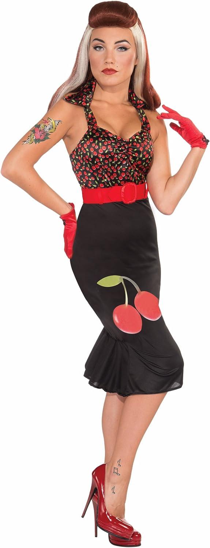 Forum Retro Rock Cherry Anne Costume Dress