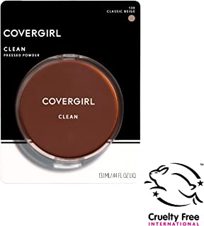 COVERGIRL Clean Pressed Powder Foundation Classic Beige 130, 0.44 Fl Oz (1 Count) (Packaging may vary)