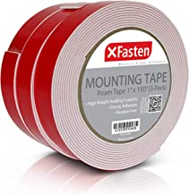 XFasten Double Sided Tape Foam Mounting Tape, 1-Inch x 150-Inch (Pack of 3)