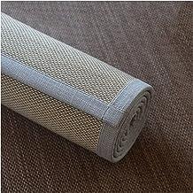 Large Bamboo Rugs, Natural Fiber Crawling Mat Women Yoga Pad Summer Floor Mat With Non Slip Backing, Living Room Bedroom B...