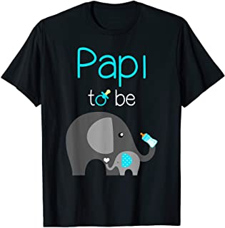 Mens Papi to Be Elephant Baby Shower for Boy Papi Shirt