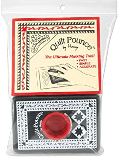 Hancy 4-Ounce Quilt Pounce Pad with Chalk Powder, White