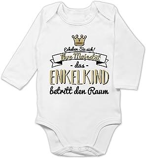 Shirtracer Sprüche Baby - Ihre Majestät das Enkelkind betritt den Raum - Baby Body Langarm