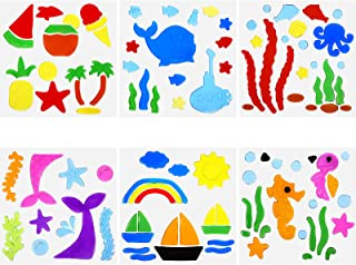 Frienda 6 Sheet Summer Gel Window Clings Window Stickers, Ice Cream Jelly Removable Window Decals, Summer Decorations for ...