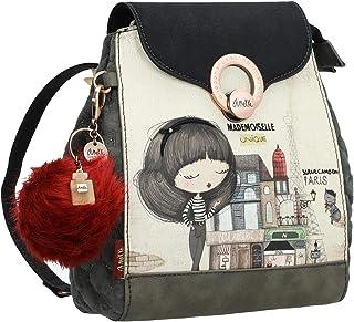 Original mochila estampada en tono gris
