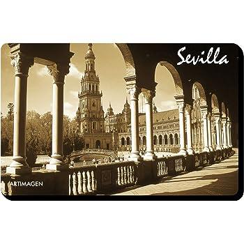 Weekino Plaza de españa Sevilla Imán de Nevera 3D de Cristal de Turismo de la Ciudad de Viaje Recuerdo de la Colección de Regalo Fuerte Etiqueta Engomada del refrigerador: Amazon.es: Hogar