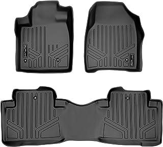 SMARTLINER Custom Fit Floor Mats 2 Row Liner Set Black for 2009-2015 Honda Pilot