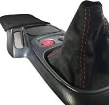 For 99-03 Honda S2000 S2k Shift and Arm Pad Black Suede Red Stitch