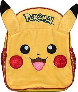 Pokemon Pika Pika Lujo 3D Felpa Frente Pikachu Mochila Escolar