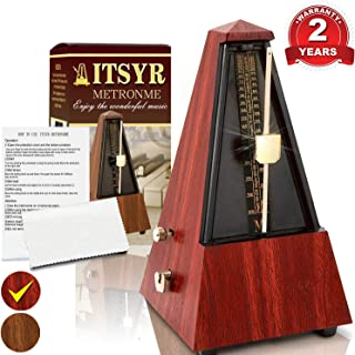 Accurate Mechanical Metronome For Musician Guitar Piano Drum Violin Track Beat And Tempo Redwood Color