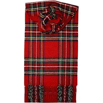Lochcarron Royal Stewart Tartan Lambswool Scarf