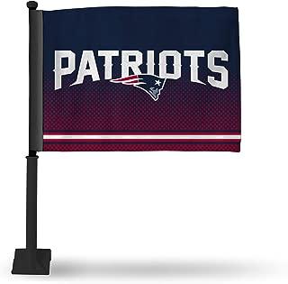 Rico NFL Car Flag with Black Pole