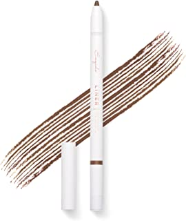 Gel Eyeliner Pencil (Brown) - Long lasting, waterproof, pigmented and smooth, built-in sharpener, best eye liner pen