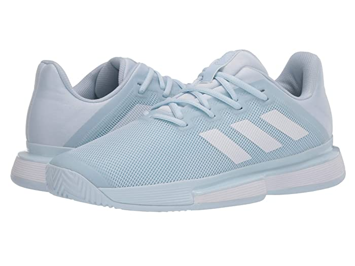 adidas  SoleMatch Bounce (Sky Tint/Footwear White/Sky Tint) Womens Tennis Shoes