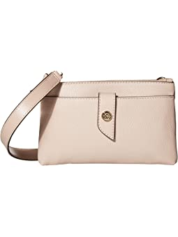 마이클 마이클 코어스 Michael Michael Kors Charm Medium Tab Double Zip Phone Crossbody,Soft Pink