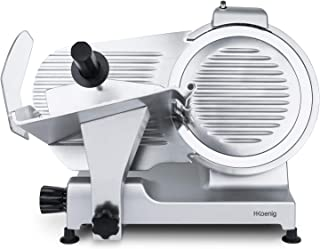 H.Koenig Trancheuse électrique à jambon, viande, saucisson, charcuterie MSX300, professionnelle, précise, épaisseur de la ...